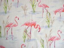 Canvas Fabric Flamingo Medium Weight 100% Cotton 140cm Wide Sold Per M FREE P+P