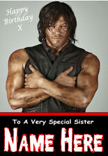 'THE WALKING DEAD' DARYL 4 Personalised Birthday Card!!  LARGE, ANY NAME,AGE!!