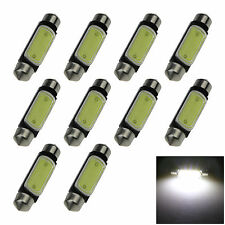 10X White 39MM 1 COB 3W Festoon Dome Map LED Light Lamp Roof Car Bulb DC12V I227