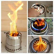 Outdoor Cooking Tool Picnic Potable Stainless Steel Wood Burning Camping Stove