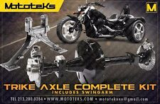 DNA TRIKE AXLE + SWINGARM KIT 4 ALL HARLEY TOURING BAGGER FLH MODELS 2002-2010