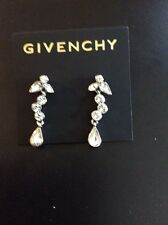 Givenchy Swarovski Crystal  Silver Tone Dangle Earrings MSRP $32 Item # 326