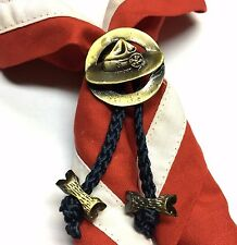 Boy Scout Woggle BP Hat with 2 beads Neckerchief Slide No.18-2