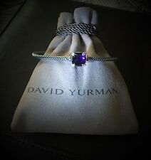 $650 David Yurman Chatelaine Bracelet with Amethyst and Diamonds, 9mm