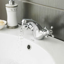 Vintage Victoria Mono Basin Tap Mixer Chrome Taps with Click Waste RRP £119