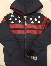 Converse Boys Padded Full Zip Hoody Navy/Red/White 5-6 Years
