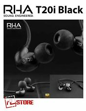 RHA T20i Black High fidelity noise isolating DualCoil in-ear headphone Metal