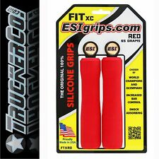 ESI Grips FIT XC RED silicone foam carbon alloy handlebar shock absorb tapered