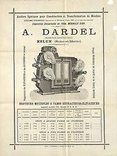 77 MELUN PROSPECTUS ETS DARDEL APPAREILS POUR MOULINS BROYEURS 1902