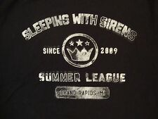 Sleeping With Sirens SWS Summer League 2009 Grand Rapids Heavy Metal T Shirt XL