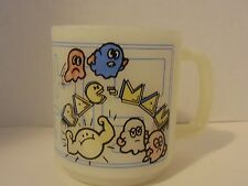 Vintage Mckee Glasbake Pac Man Video Game Mug Coffee Cup Milk Glass Collectible