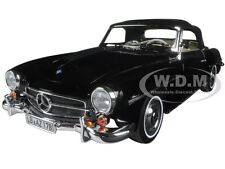 1957 MERCEDES 190 SL BLACK 1/18 DIECAST MODEL CAR BY NOREV 183538