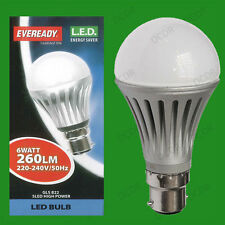 4x 6W LED Ultra Low Energy Instant On Pearl GLS Globe Light Bulbs BC B22 Lamps