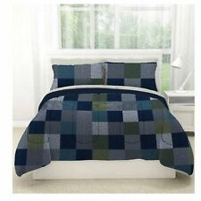 Minecraft Style Bedding Full Size Comforter Bed in a Bag Sheet Set Geo Block New