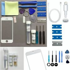 WHITE Genuine FRONT Glass Screen Replacement Repair KIT FOR iPhone 5s 5c 5+ GLUE