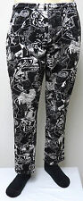 vtg WEIRD SHAPE BLACK WHITE CHAOS MC Hammer Pants M MED baggy 90s muscle gym