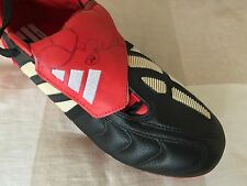 100% GENUINE HAND SIGNED ADIDAS FOOTBALL BOOT by DAVID BECKHAM with COA