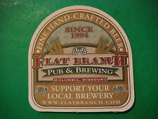 BEER Pub COASTER ~ Flat Branch Brewing ~ Columbia MO Support Your Local Brewery