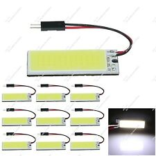 10X White Car 36 Chips COB LED Panel Dome Bulbs Light With Festoon Adapter ZJ307