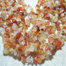 "Carnelian Agate 2-5mmx5-15mm Chip Nugget Bead 34"" Necklace Jewelry Designs Gift"