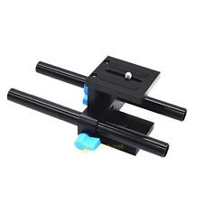 S#SS 15mm Rail Rod Support System Baseplate Mount for DSLR Follow Focus Rig Matt