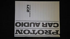 Proton 271 owners manual book original car radio stereo crossover