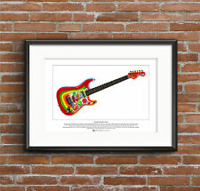 George Harrison's Stratocaster Rocky guitar Ltd Edition Fine Art Print A3 size