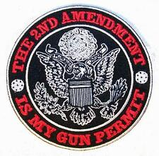 2ND AMENDMENT IS MY GUN PERMIT PATCH P7200 NEW jacket patches BIKER EMBROIDERIED