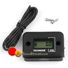 Tachimetro Contaore Digitale Display LCD RPM Ore Impermeabile Moto Scooter ATV