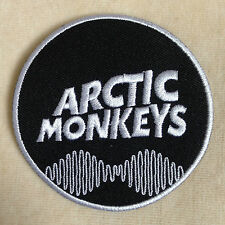 ARCTIC MONKEY ENGLISH ROCK BAND EMBROIDERY IRON ON PATCH BADGE #WHITE BORDER