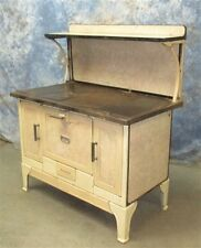 Porcelain Cast Iron Kitchen Cook Stove Wood Burning Coal Vintage Morning Parlor