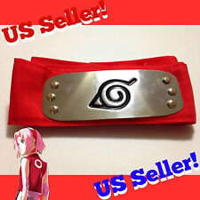 Naruto Shippuden RED Hidden Leaf Village Headband Anime Cosplay Saukura Haruno