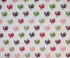 RPG153 RARE  Le Coq De Granville Roosters Country Chicken Cotton Quilt Fabric