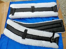 Horse or Mule Fleece Harness Saddle & Breast Collar Pads Set Amish Made WHITE