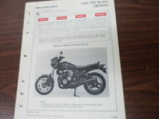 Honda Factory Dealer Set-Up Instructions 32 Pag. 84-85 CB700SC MPD 7752 8410