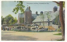 Elephant, Pachyderm Building at the PHILADELPHIA Zoo PA Vintage Pennsylvania Pos