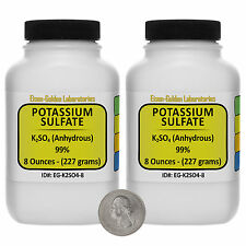 Potassium Sulfate [K2SO4] 99% Reagent Grade Crystals 1 Lb in Two Bottles USA