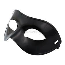 Men Masquerade Costume Ball Outfit Half Face Eye Mask Party Dress Black