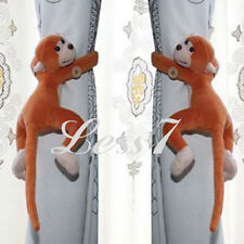 2 x Cute Plush Monkey Curtain Clasp Accessory Tieback Hook Holder Buckle