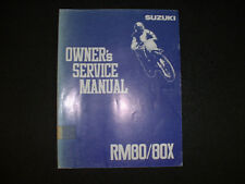 1992 Suzuki RM80/80X - Factory Service Manual