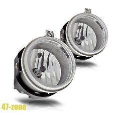 For Dodge Geep Chrysler Clear Lens Chrome Housing Replacement Fog Lights Lamps