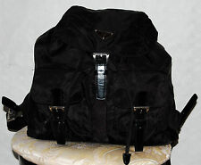 100% Authentic Prada Black Nylon Medium Backpack Bag