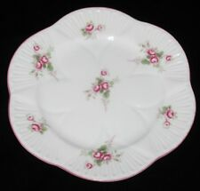 "Shelley BRIDAL ROSE 16545 Bread Plate, 6"" Across, Crazing"