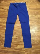 "J Brand 28 Royal Blue Jeans Skinny 28"" Inseam"