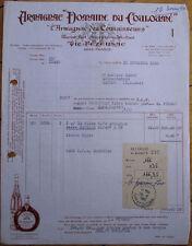 'Armagnac Domaine du Couloume' 1960 Letterhead - Vic-Fezensac, Gers, France