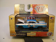 M2MACHINES 1:64 SCALE DIECAST METAL TURQUOISE & WHITE 1957 DODGE ROYAL LANCER