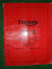 TRIUMPH TROPHY 250 TR25W 250cc ILLUSTRATED SPARE PARTS MANUAL OEM #SPC6 1968/69