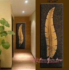 Handmade Modern Banana Leaf Oil Painting on canvas wall decor /NO Frame P1053