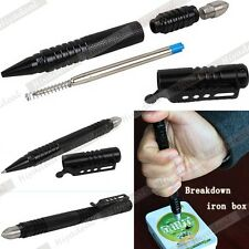 Aluminum EDC Tactical Pen Glass Breaker Kubaton Self Defense Military Combat GUU