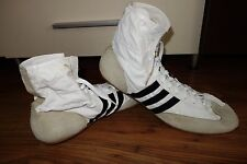 VINTAGE '80 ADIDAS WHITE BOOTS MADE IN WEST GERMANY UK 13, US 14, FREDDY MERCURY
